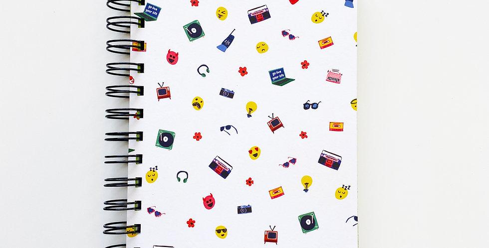 High Tech Emoji Notebook Journal