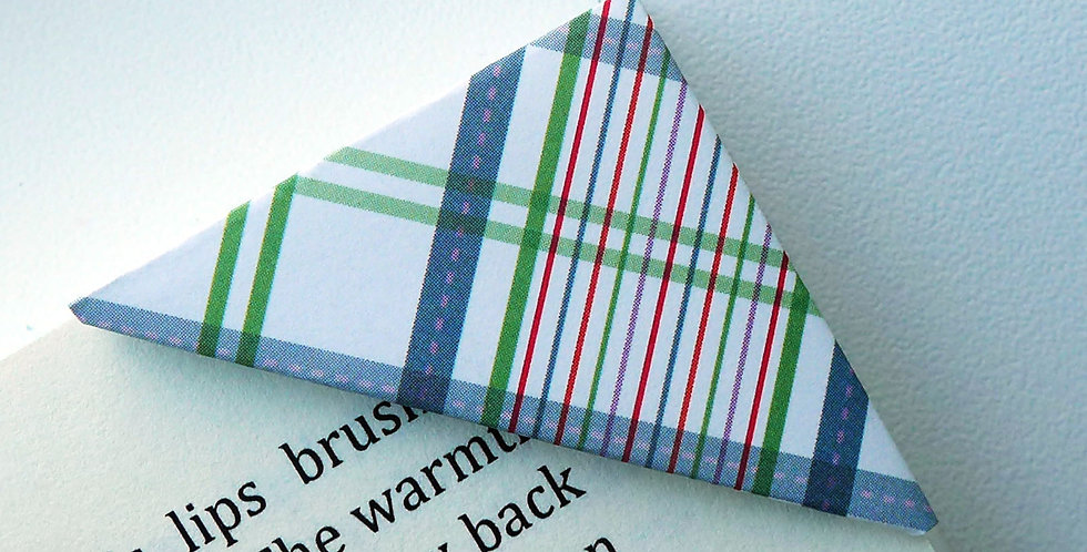 Preppy Plaid Pattern Bookmark