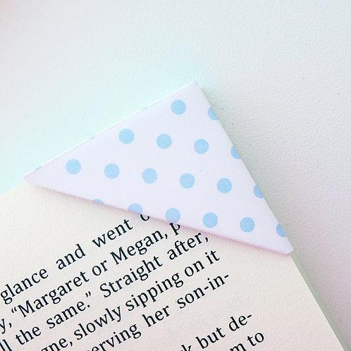 Pastel Blue Polka Dot Bookmark