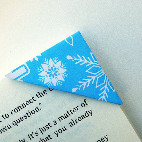 Christmas Snowflake in Vibrant Blue Bookmark