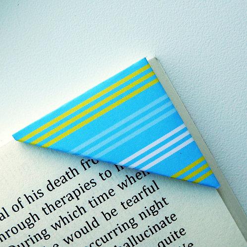 Buttondown Blue Stripe Bookmark