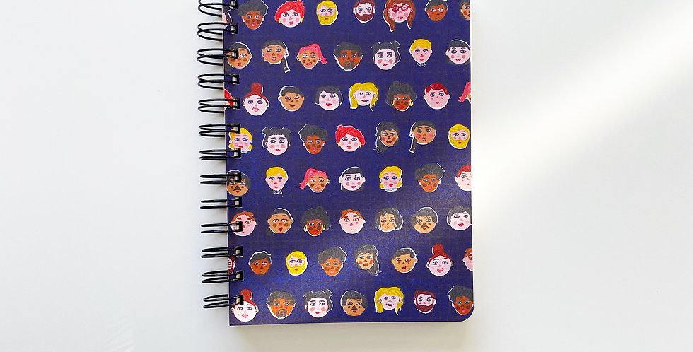 We Are United No Matter Skin Color Notebook Journal