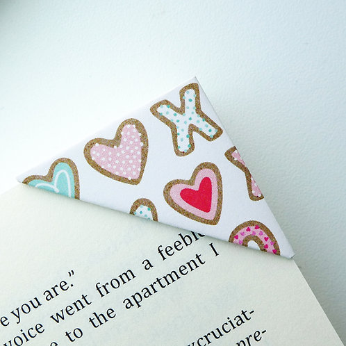 Lovely Heart Cookie Bookmark