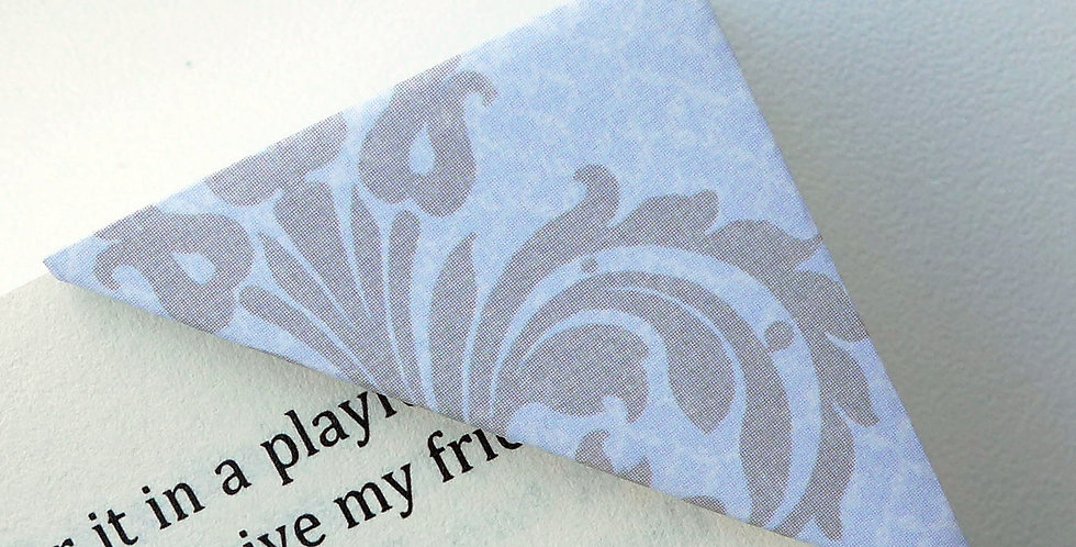 Abstract Elegant Bouquet On Gentle Blue Bookmark