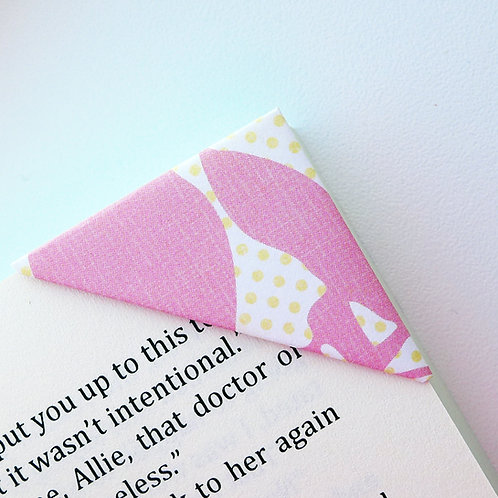 Abstract Flower On Polka Dot Bookmark