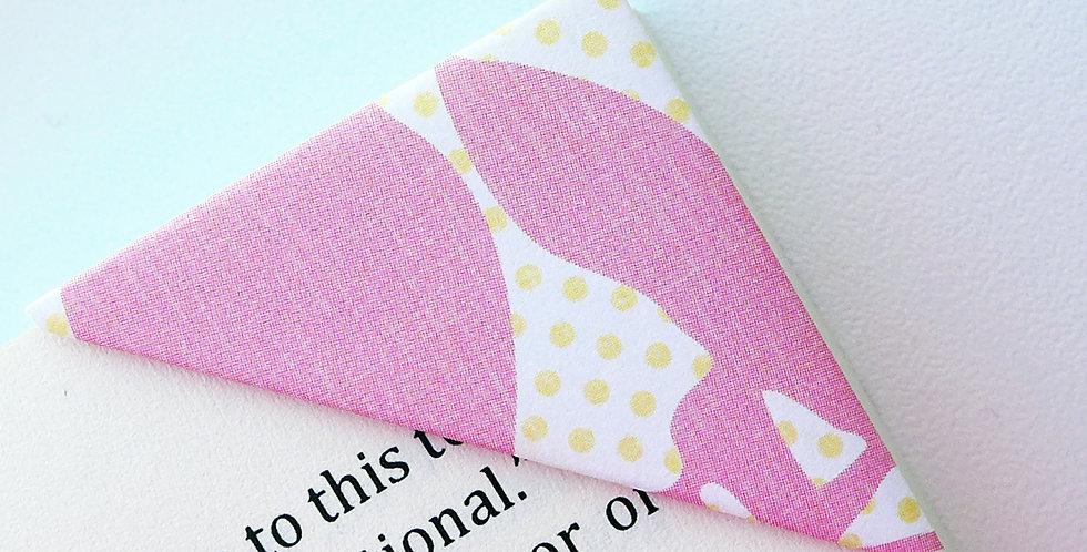 Abstract Flower On Polka Dot Bookmark