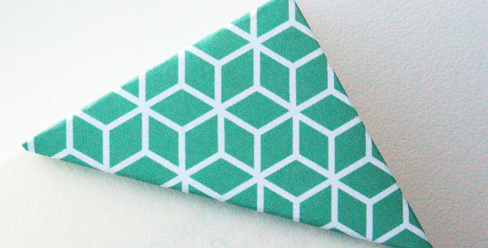 Geometric Cube Bookmark (2 colors)