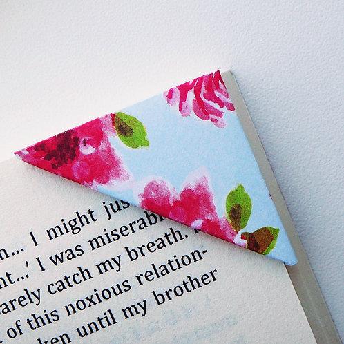Red Rose In Light Blue Bookmark
