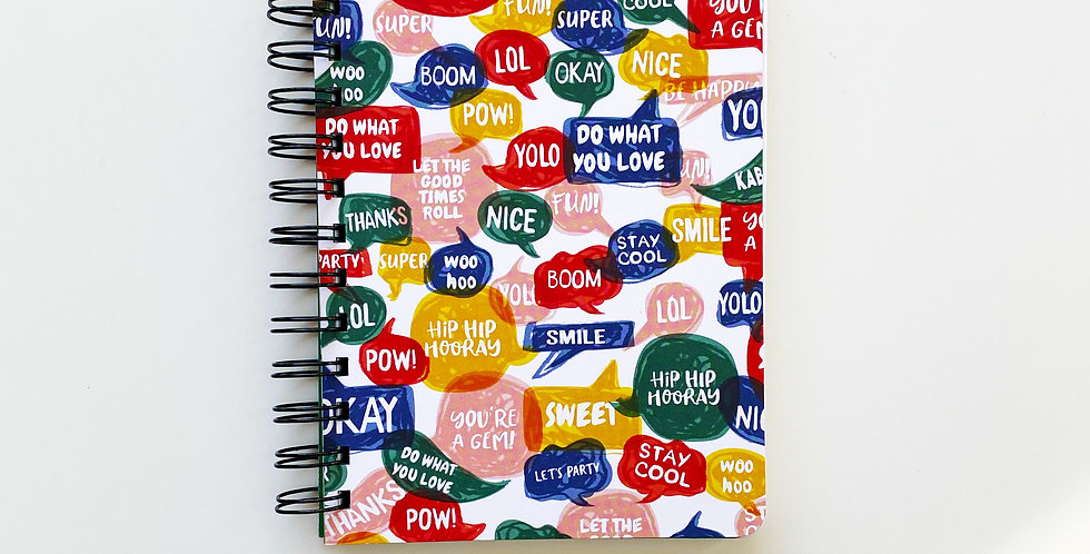 Quotes In Cloud Bubble Notebook Journal