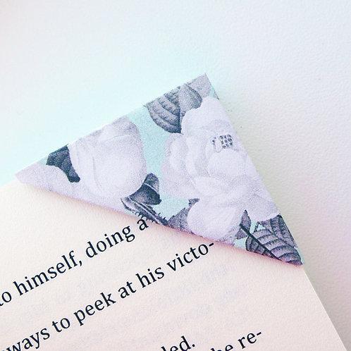 Mint Grey Beautiful Bloom Bookmark