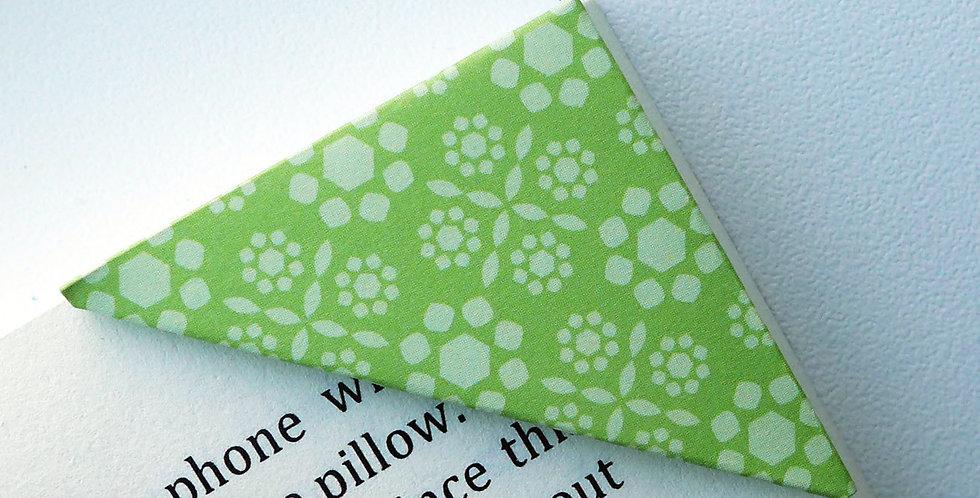 Crystalline Pattern In Green Bookmark