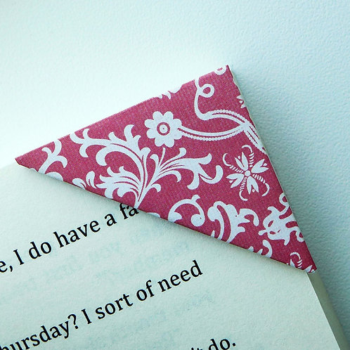 Elegant Floral Holiday Gift Wrap Bookmark