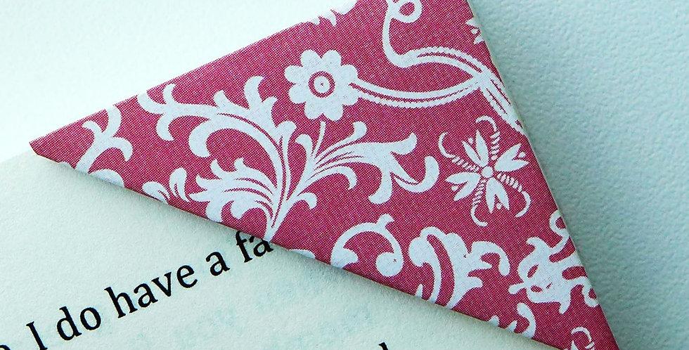 Elegant Floral Holiday Gift Wrap Bookmark