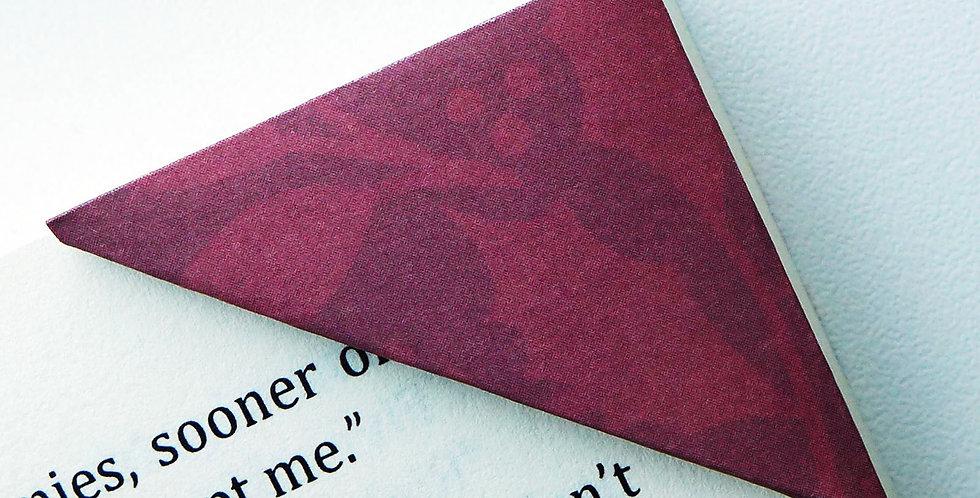 Dark Red Poinsettia Bookmark