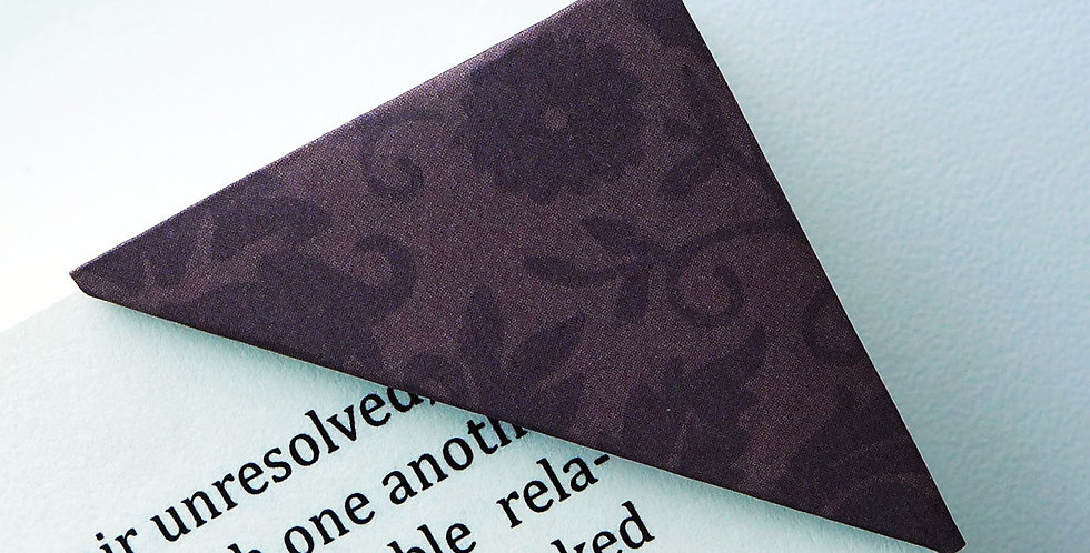 Chocolate Wild Bloom On Brown Bookmark