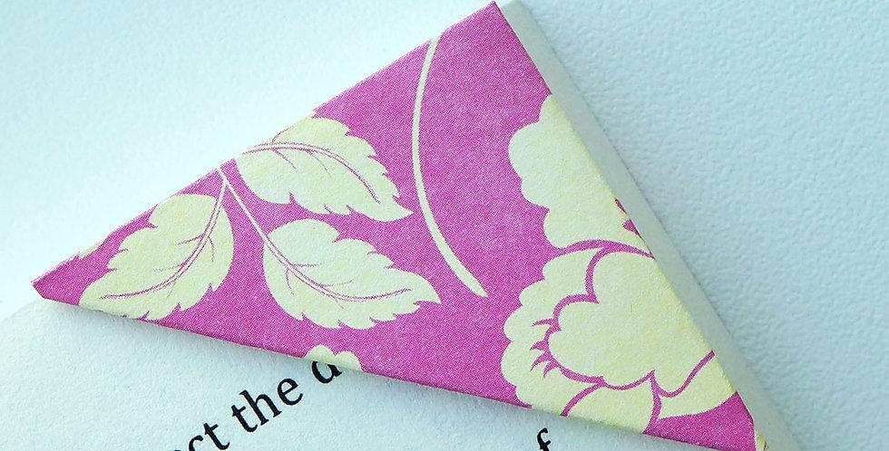 Yellow Alstroemeria On Hot Pink Bookmark