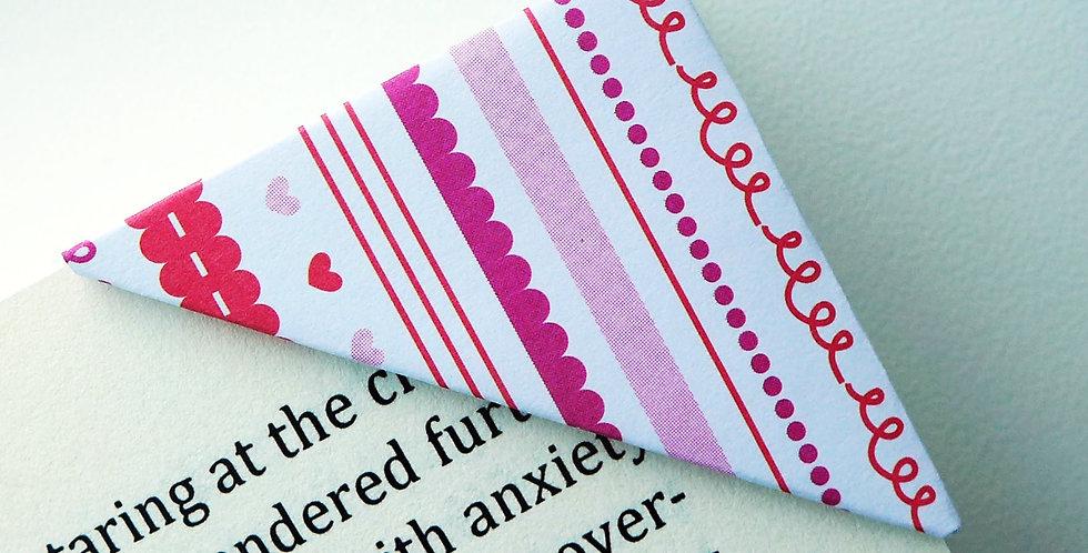 Cute Heartshape Pattern Valentine Bookmark