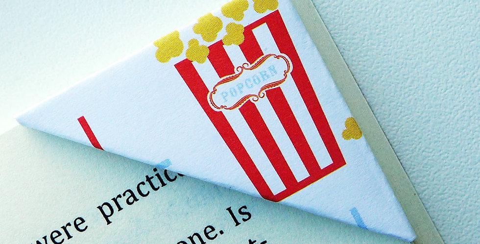 Popcorn Ice Cream Snack Bookmark
