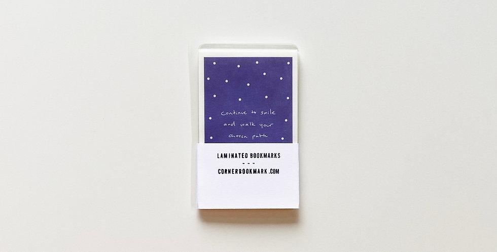 Set of 10 Vintage Laminated Bookmarks (Dark Purple)