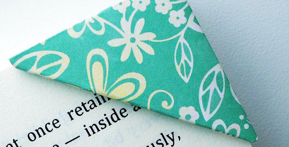 Flower Garden On Washed Green Bookmark