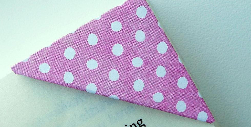 White Polka Dot Bookmark (3 colors)