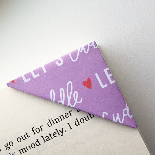 Let's Cuddle Bookmark