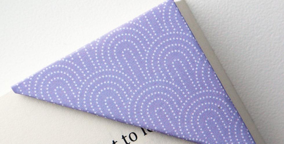 Purple Seigaiha Bookmark