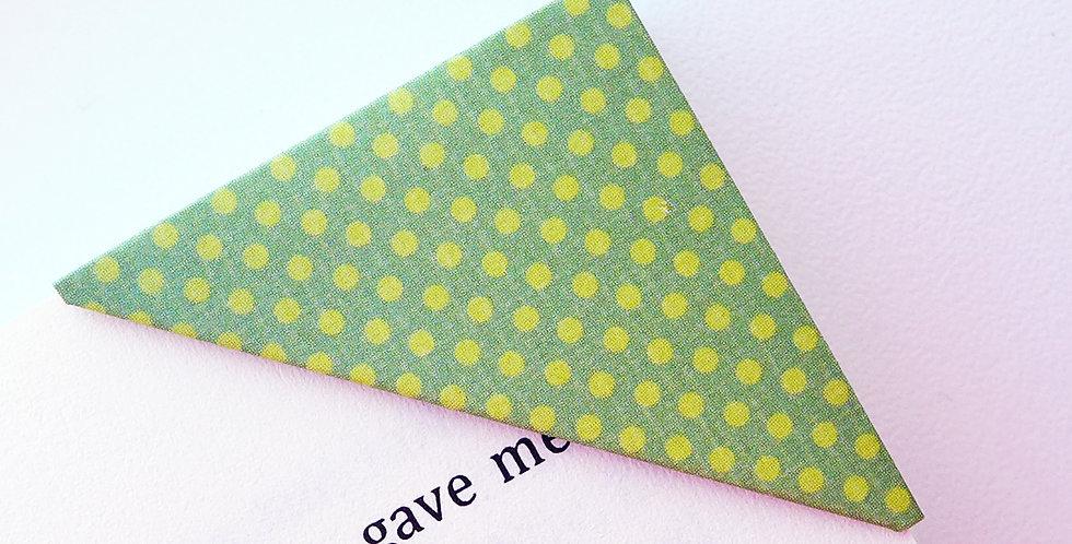Solid Tiny Polka Dot Bookmark (7 colors)