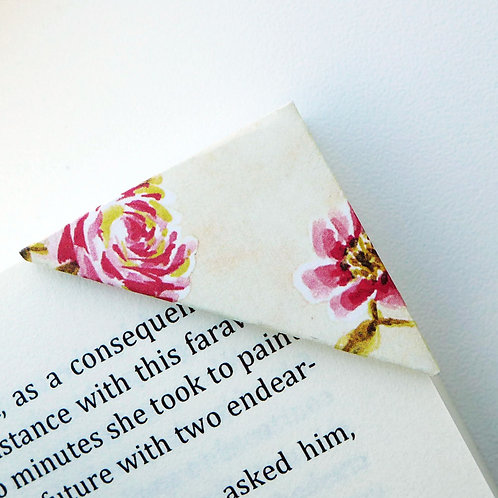 Red Rose In Soft Yellow Bookmark