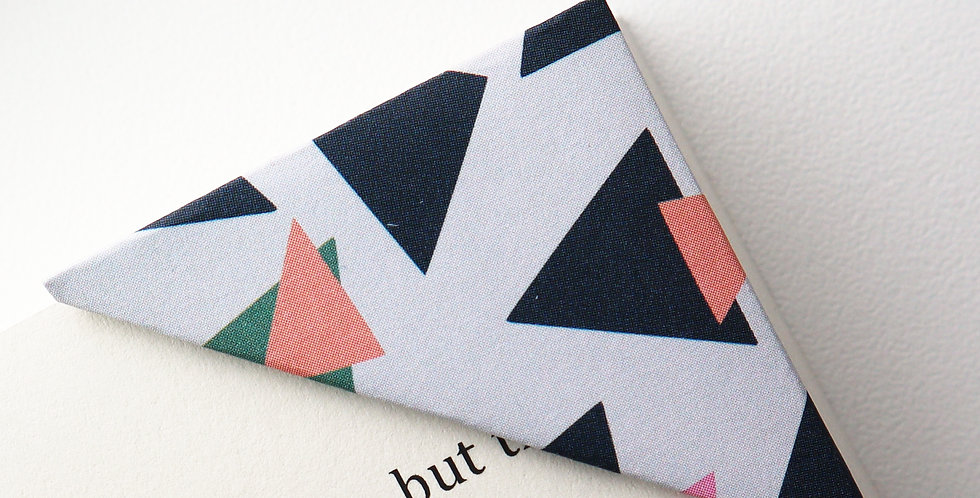 Triangle Print Bookmark