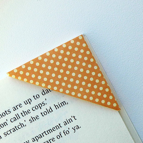 Washed Tiny Polka Dot Bookmark (3 colors)