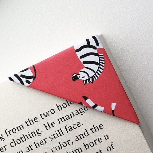Zebra On Red Bookmark