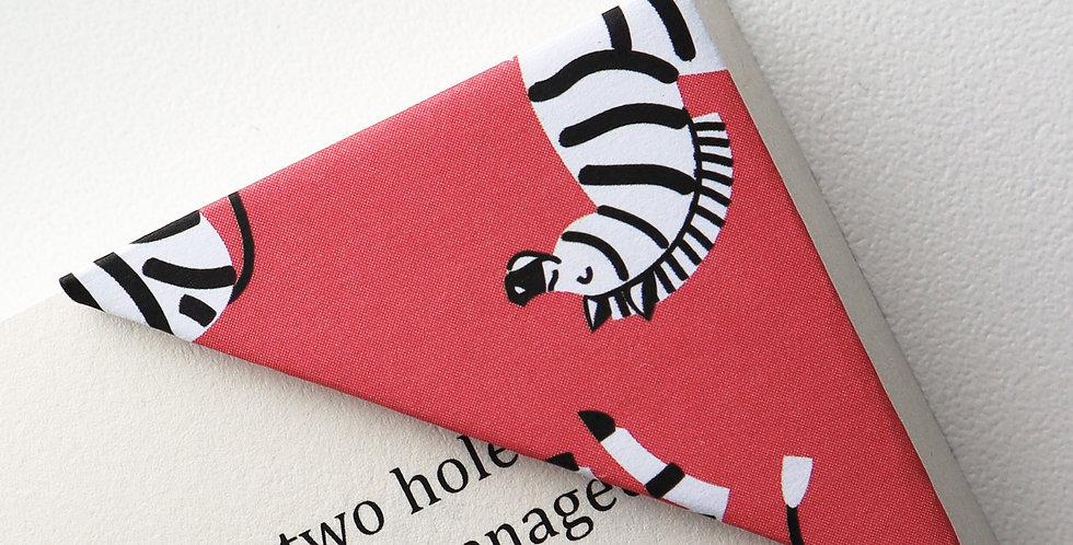 Zebra On Red Bookmark