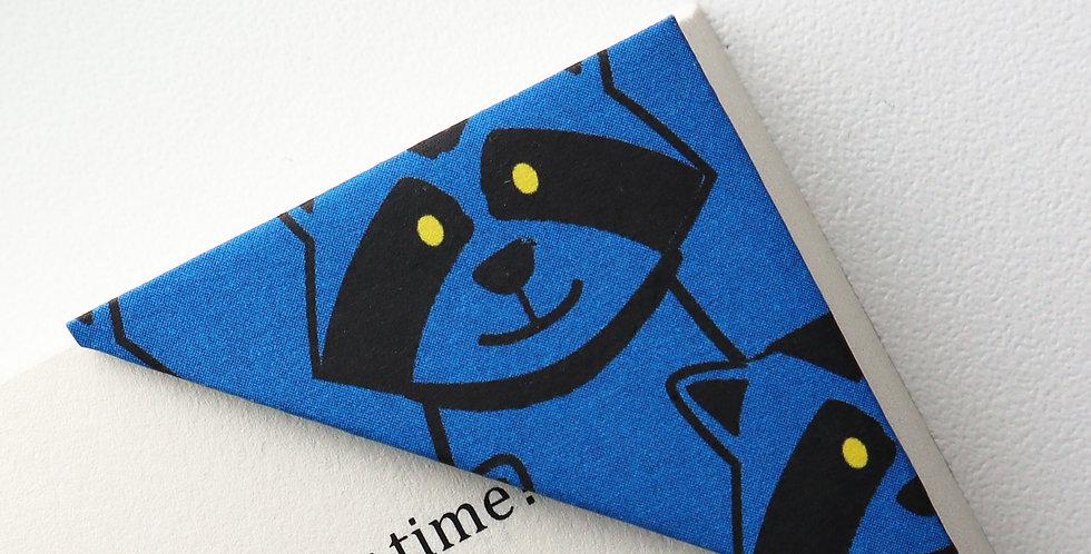 Super Blue Raccoon Bookmark
