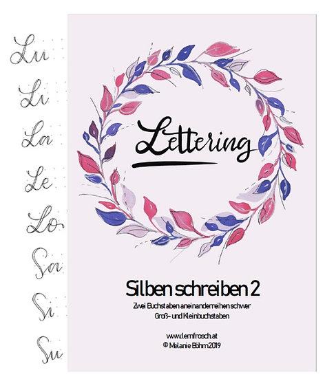 Lettering Silben schreiben 2