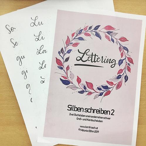 Lettering Silben schreiben 1