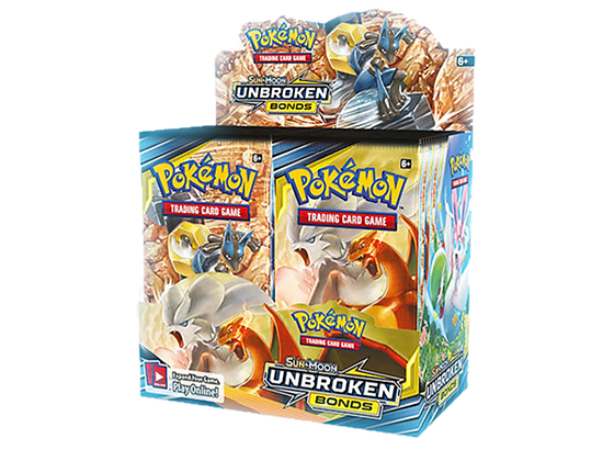 Display de sobres Pokémon Sun and Moon Unbroken Bonds