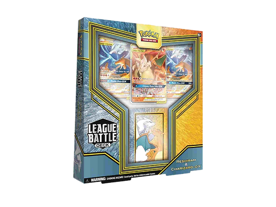 Pokémon TCG: League Battle Deck Reshiram y Charizard GX.