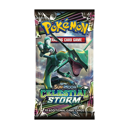 Sobres de Pokémon Sun and Moon Celestial Storm