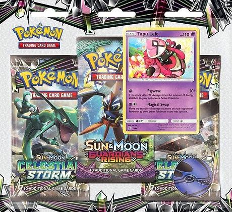 3 Packs Blister Celestial Storm Tapu Lele - Pokémon T.C.G.