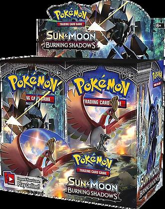 Caja de sobres Pokémon Sun and Moon Burning Shadows
