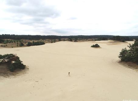 Carmen dancing in the sand