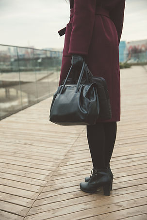 woman going to work