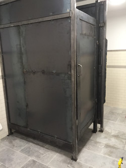 steel bathroom stalls