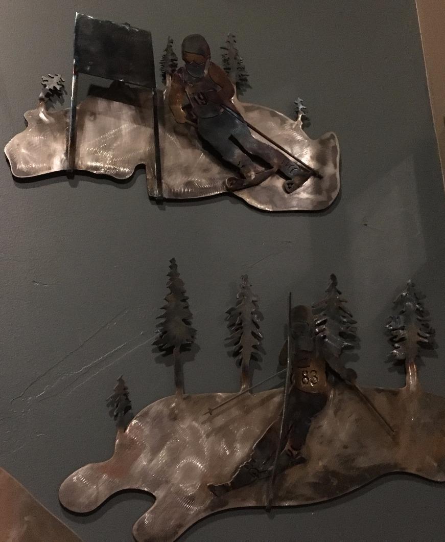 metal art ski