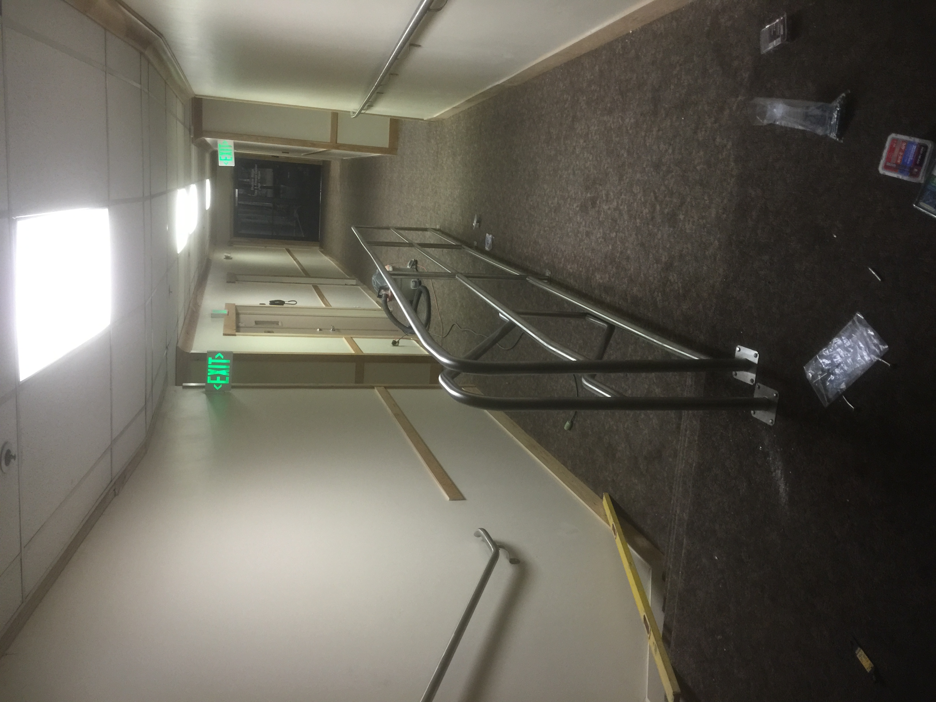 ramp and stairs handrails