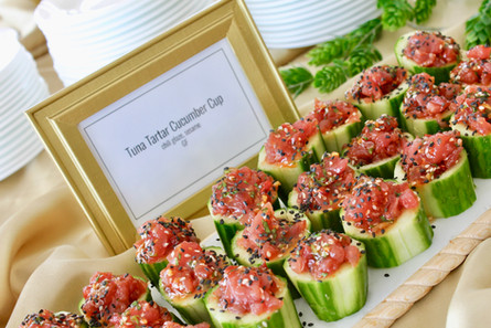 Tuna Tartar Cucumber Cups