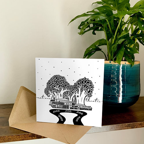 National Theatre Abstract Architecture Treetop Card