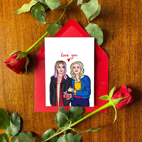 Maeve and Amy from 'Sex Education' Card