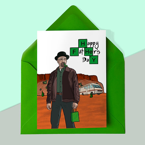 Walt from Breaking Bad Father's Day Card